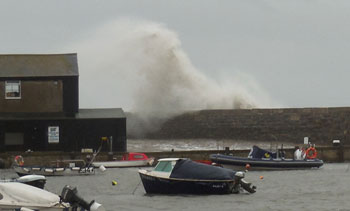 Storm over the Cobb, Lyme Regis