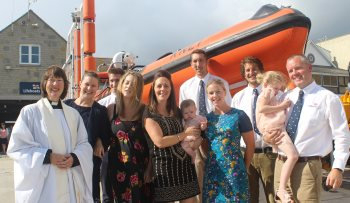 Christening at Lyme Regis Lifeboat Station