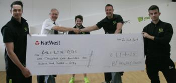 B Fit RNLI cheque
