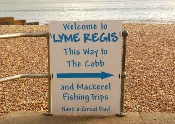 Mackerel fishing trips & Cobb sign